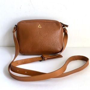 Kelsi Dagger Brown Leather Purse Crossbody Bag